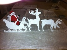 2 small deer with santa and sleigh in Alexandria, Louisiana