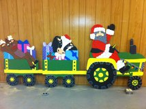 santa riding tractor in Alexandria, Louisiana