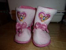 #8018 DISNEY PRINCESS SLIPPER BOOTS CHILD SIZE MED in Fort Hood, Texas