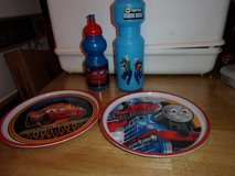 #8019 CHILD'S PLATES(2) , WATER BOTTLES in Fort Hood, Texas
